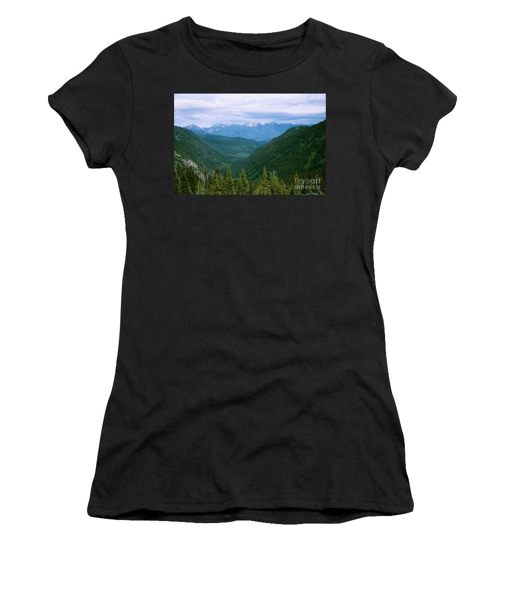 Nature Women's T-Shirt (Athletic Fit) featuring the photograph Jewell Basin- Mt by Maili Page