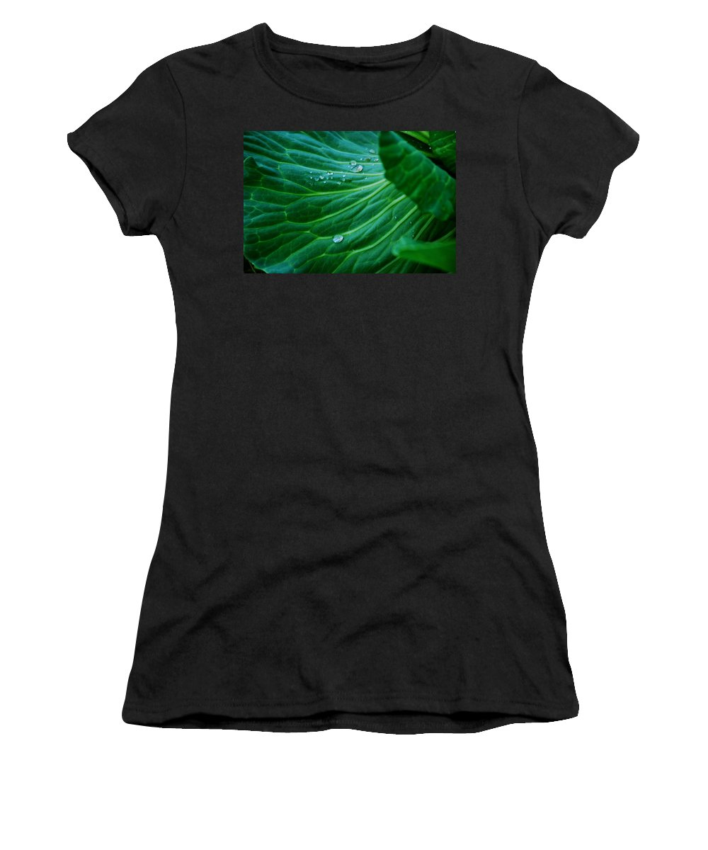 Cabbage Women's T-Shirt (Athletic Fit) featuring the photograph Jewels Of Water by Eric Tressler