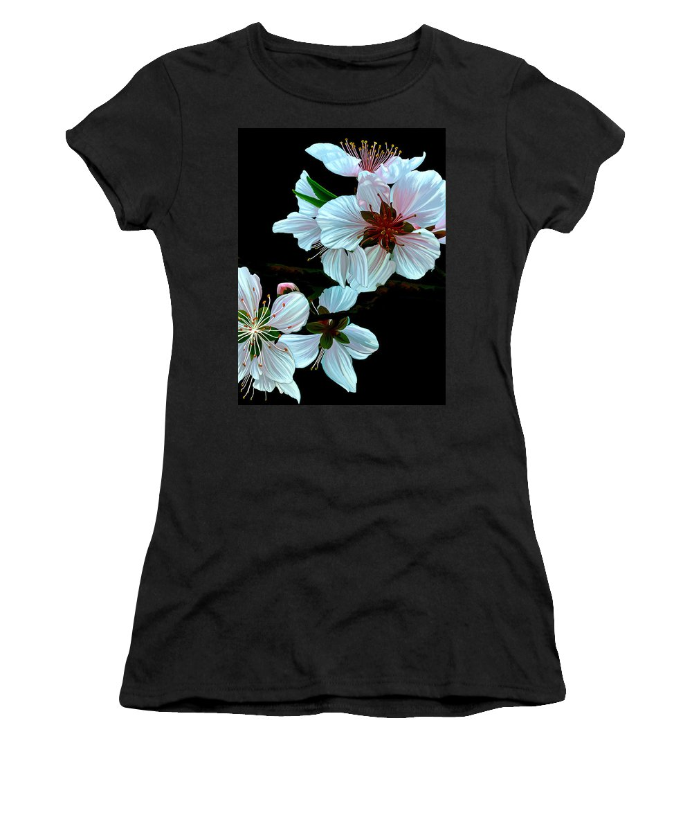 Fine Art Women's T-Shirt featuring the painting Just Peachy by Patricia Griffin Brett