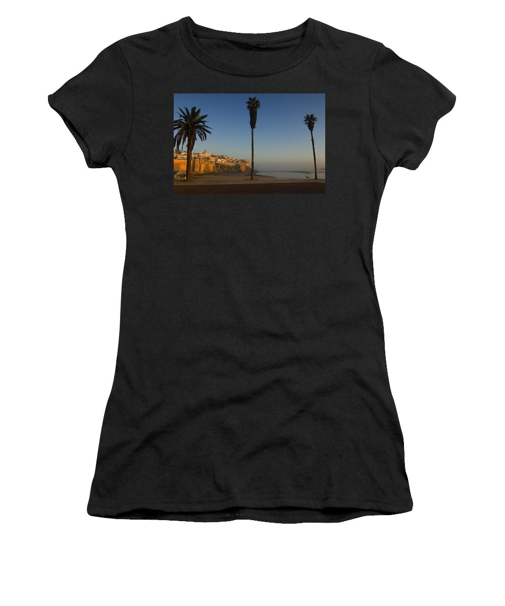 Photography Women's T-Shirt (Athletic Fit) featuring the photograph Kasbah Des Oudaias, Rabat by Axiom Photographic