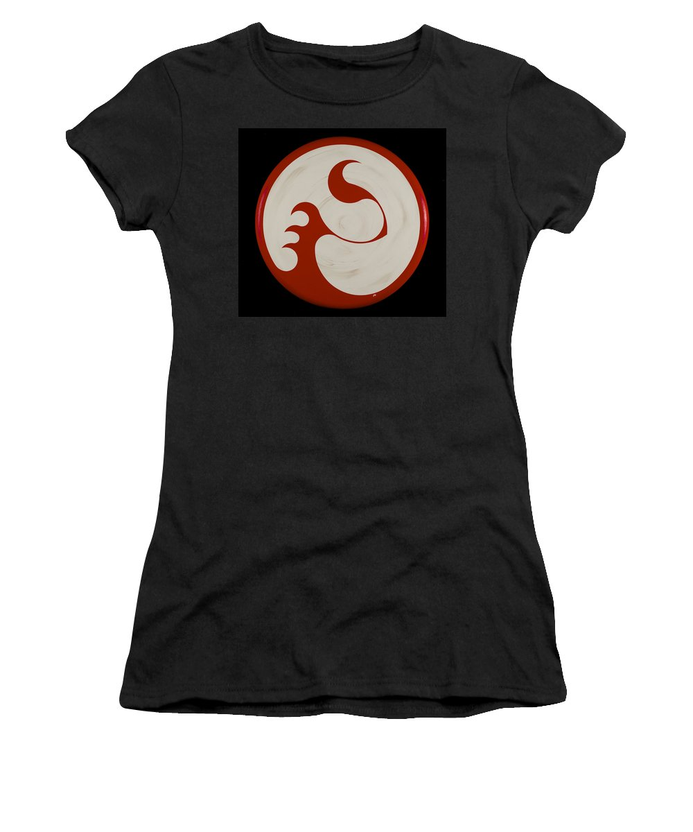 Abstract Women's T-Shirt (Athletic Fit) featuring the painting Lady's Choice by James Hamilton
