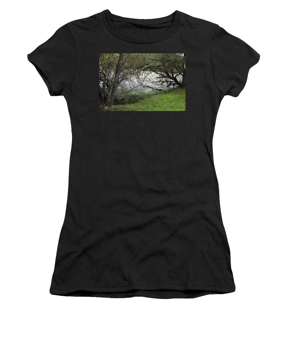 Tree Women's T-Shirt (Athletic Fit) featuring the photograph Lakeside View 1 by Madeline Ellis
