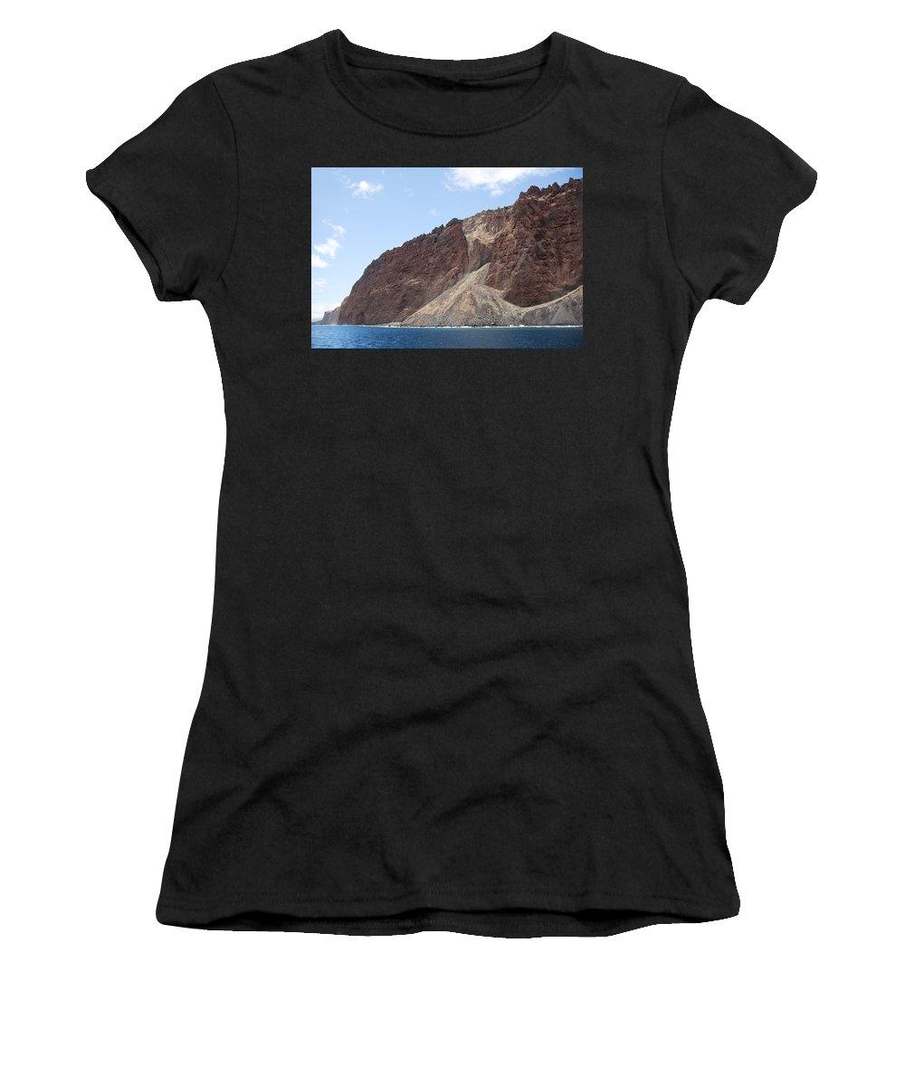 Big Women's T-Shirt (Athletic Fit) featuring the photograph Lanais Coastline Cliffs by Jenna Szerlag