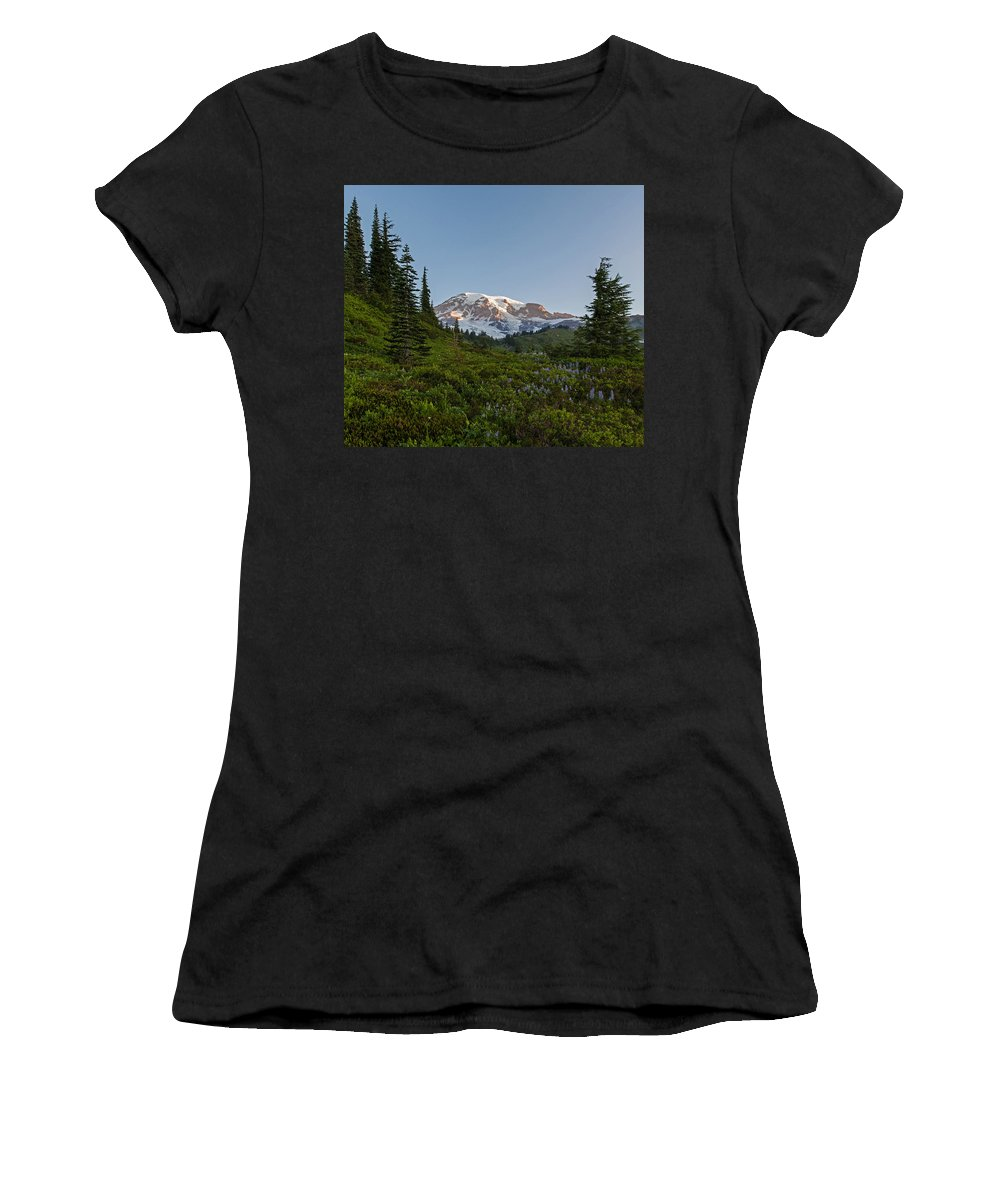 Rainier Women's T-Shirt featuring the photograph Layers Of Beauty by Mike Reid