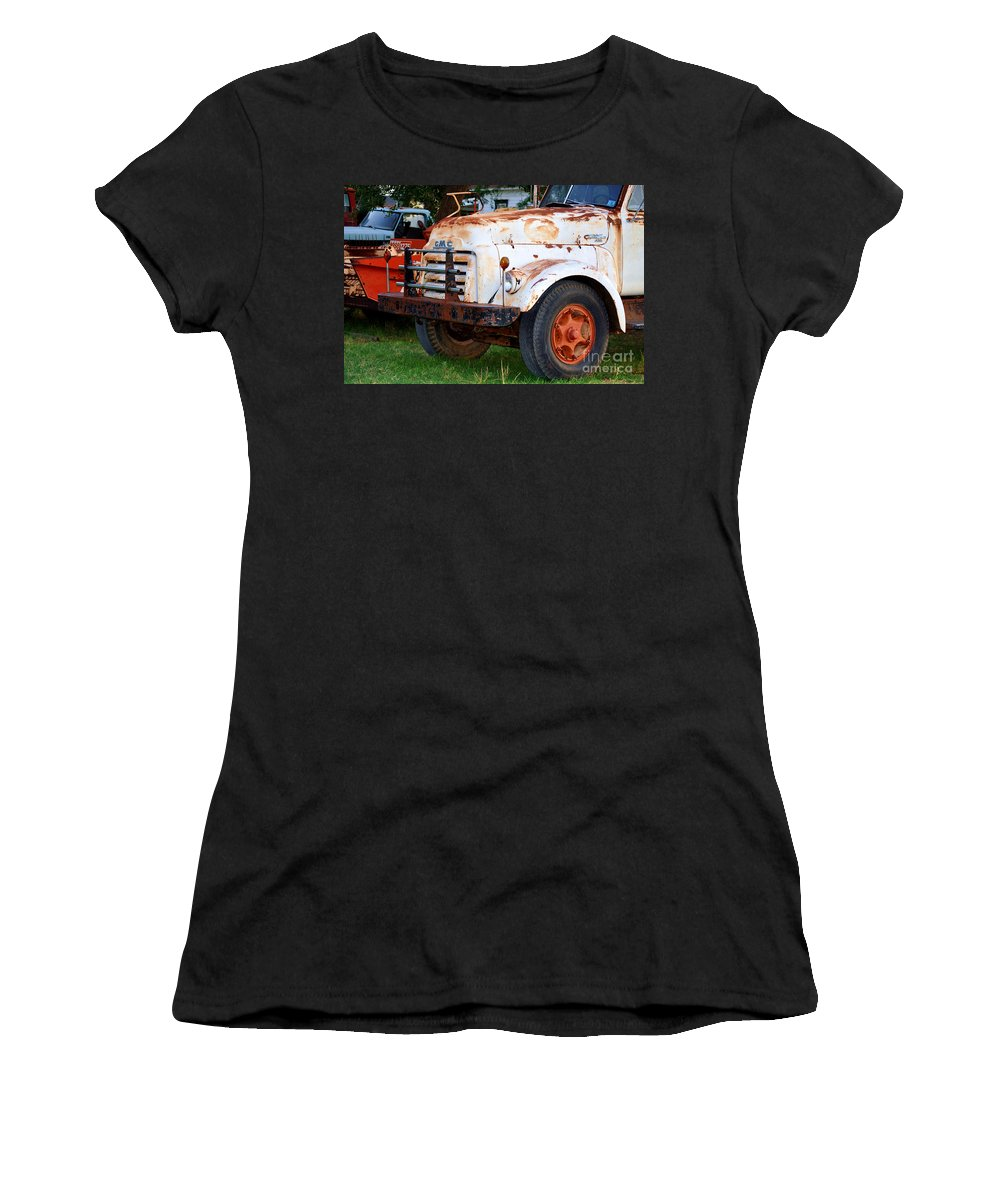 Truck Women's T-Shirt featuring the photograph Let's Go To Work by Anjanette Douglas