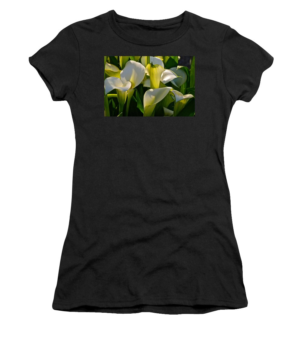 Lily Of The Nile Women's T-Shirt featuring the photograph Lilies Of The Nile by Byron Varvarigos