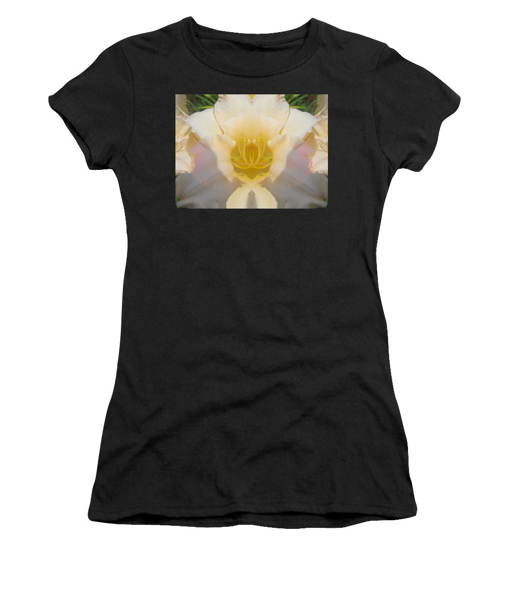 Color Blend Women's T-Shirt featuring the digital art Lily Clouds by Michele Caporaso