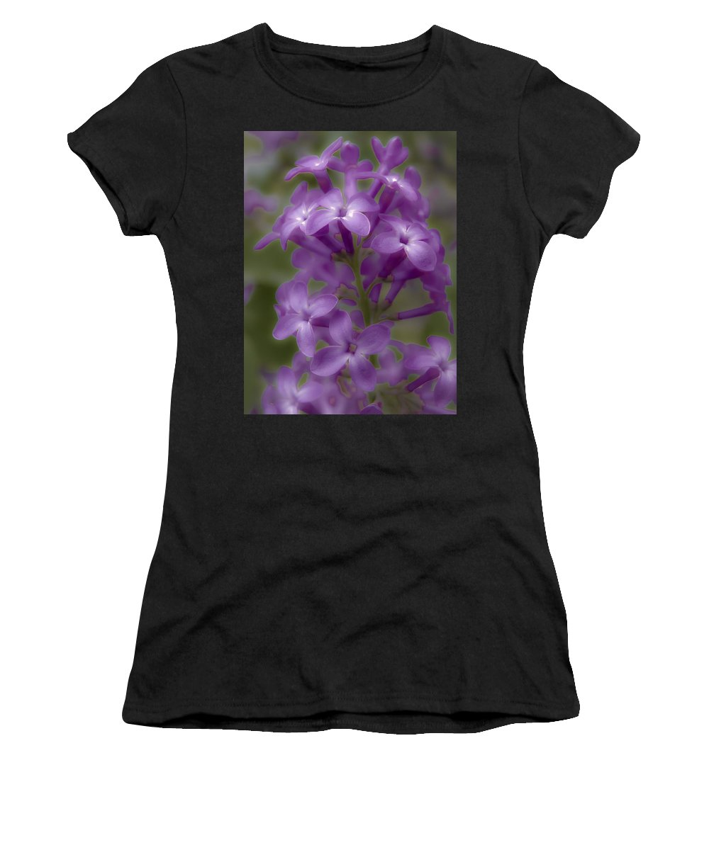 Nature Women's T-Shirt (Athletic Fit) featuring the photograph Little Purple Flowers by Jiayin Ma