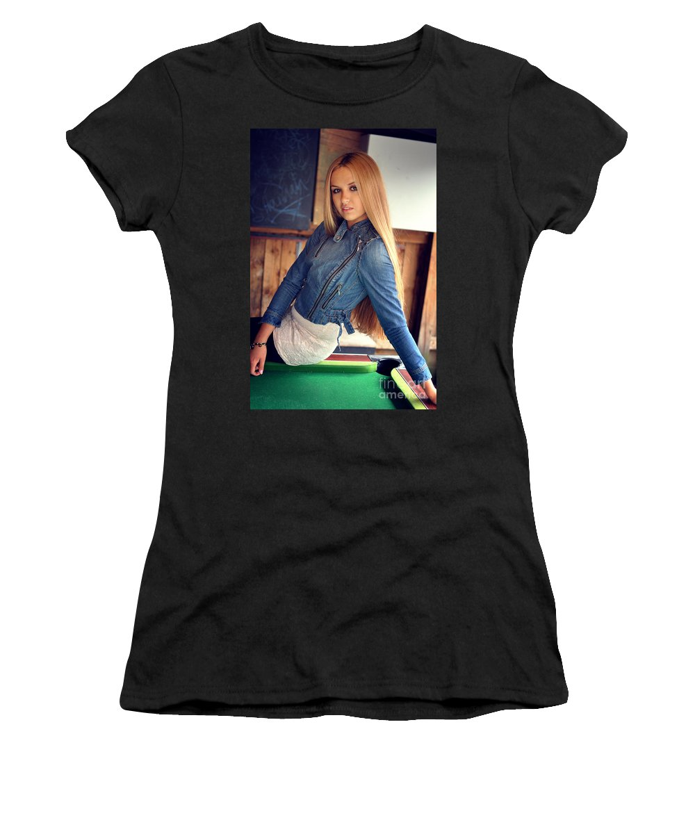 Yhun Suarez Women's T-Shirt (Athletic Fit) featuring the photograph Liuda7 by Yhun Suarez