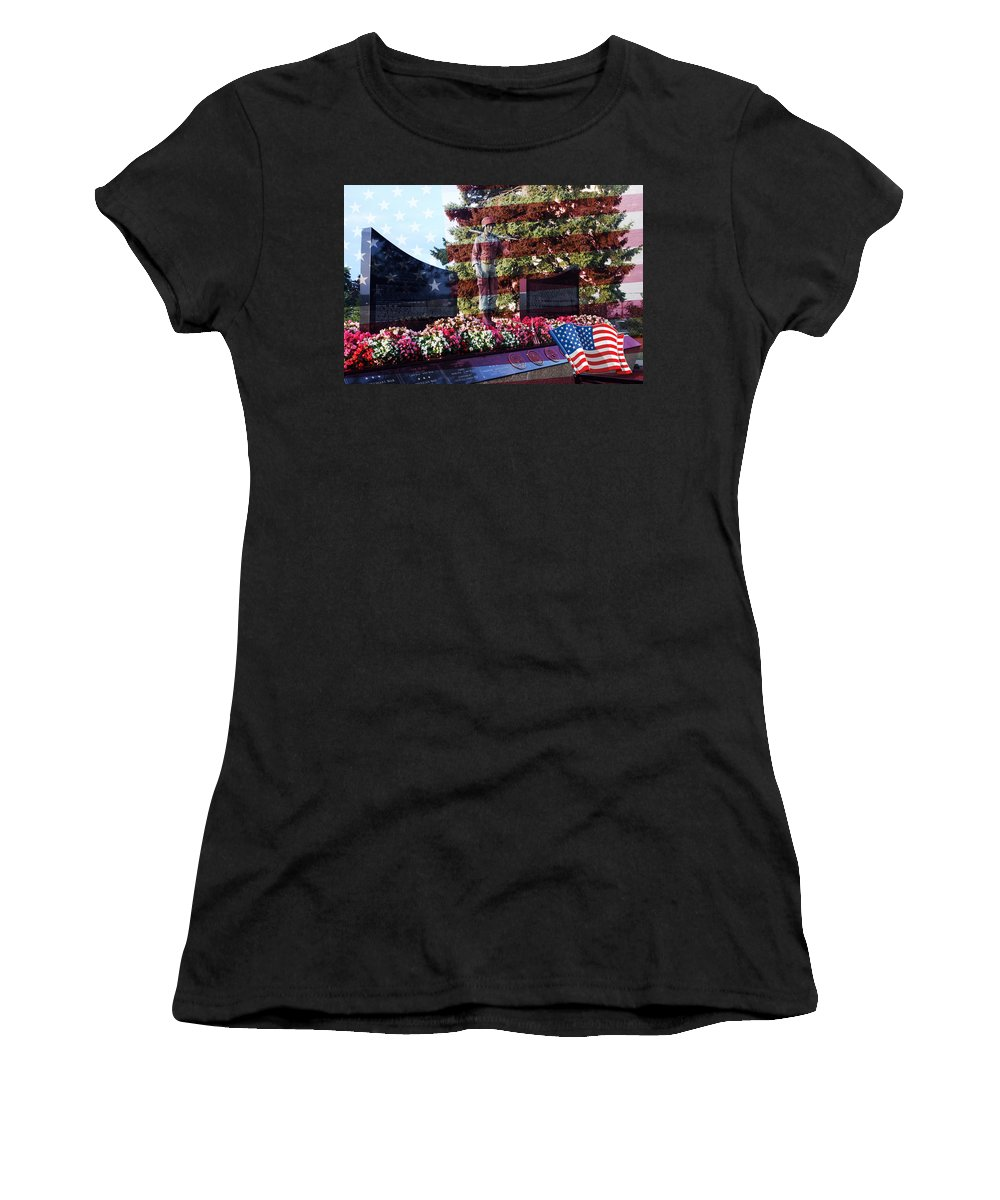 Beautiful Women's T-Shirt (Athletic Fit) featuring the photograph Lone Soldier Memorial by Kay Novy