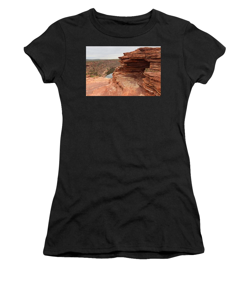 Natures Window Women's T-Shirt (Athletic Fit) featuring the photograph Looking Past Natures Window by Robert Caddy