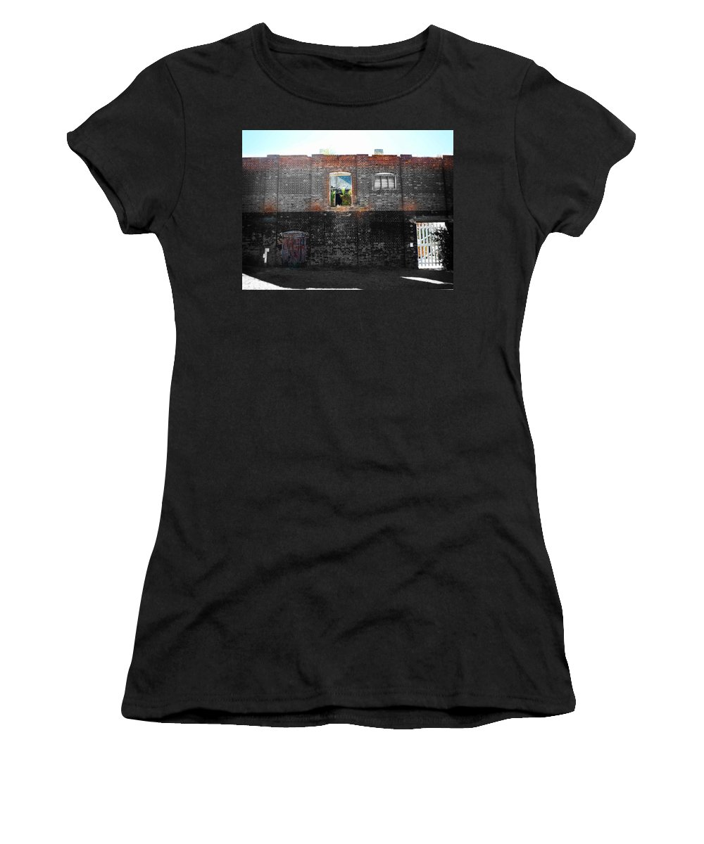 Derelict Women's T-Shirt (Athletic Fit) featuring the photograph Maltings by Charles Stuart
