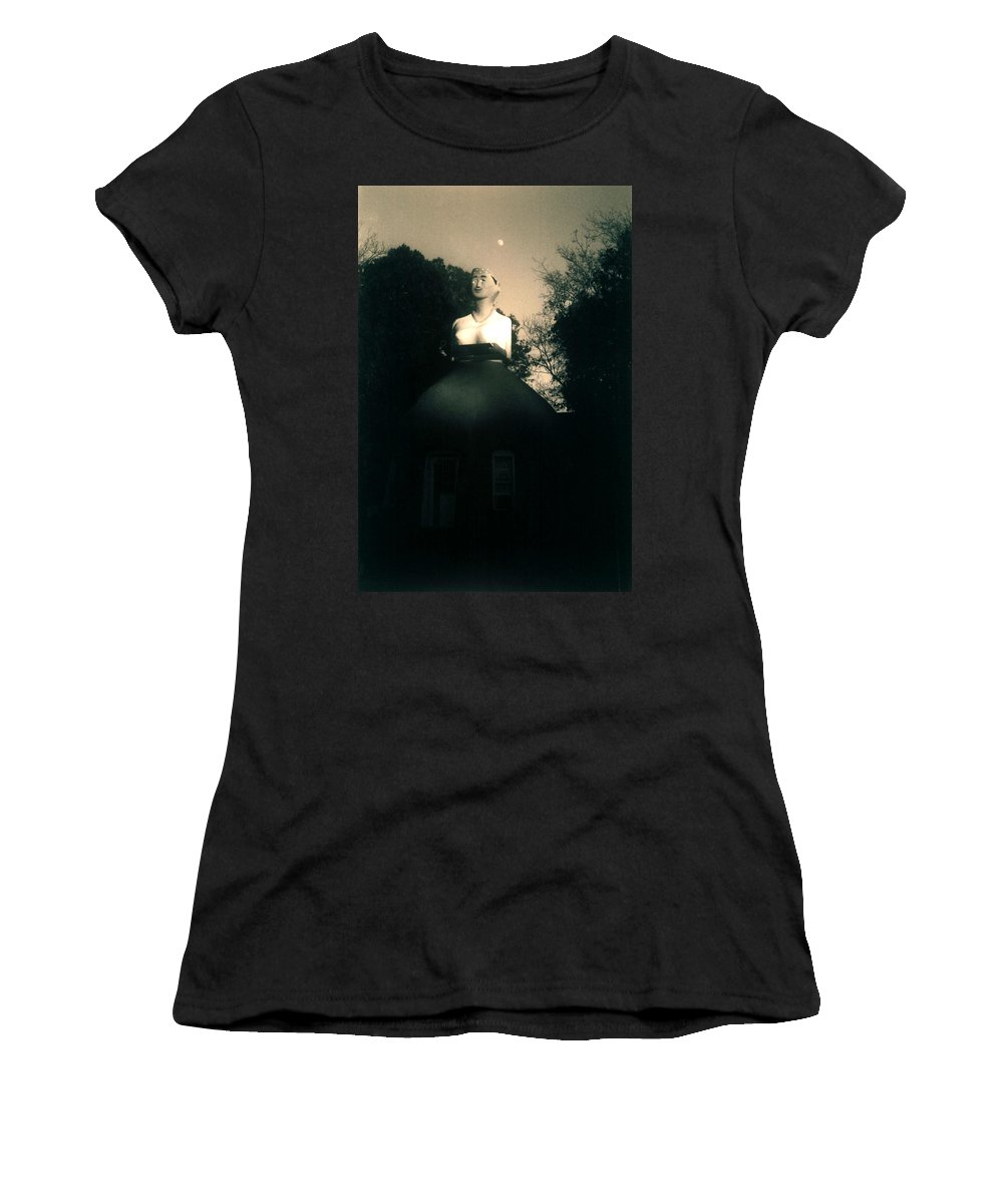 Louisiana Women's T-Shirt (Athletic Fit) featuring the photograph Mammy- Full Moon by Doug Duffey