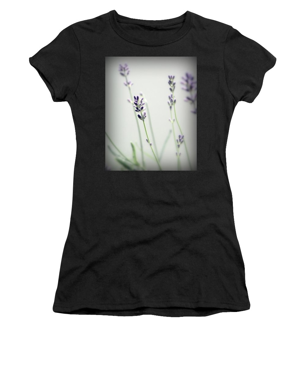 Lavender Stems Women's T-Shirt (Athletic Fit) featuring the photograph Memories Of Provence by Brooke T Ryan