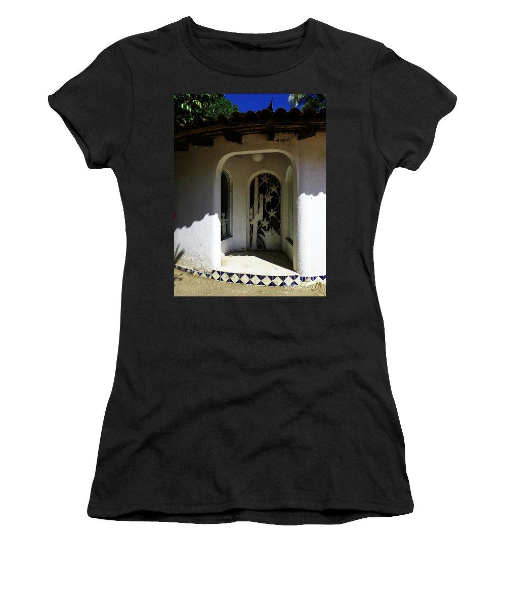 Mesoamerica Women's T-Shirt featuring the photograph Mexican Door 14 by Xueling Zou