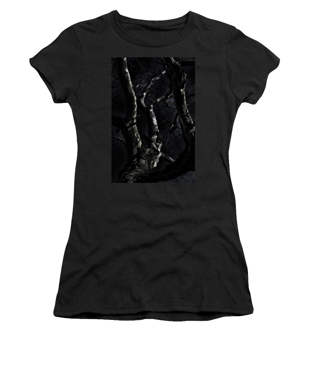 Tree Women's T-Shirt (Athletic Fit) featuring the photograph Midnight Tree 3 by David Sanchez