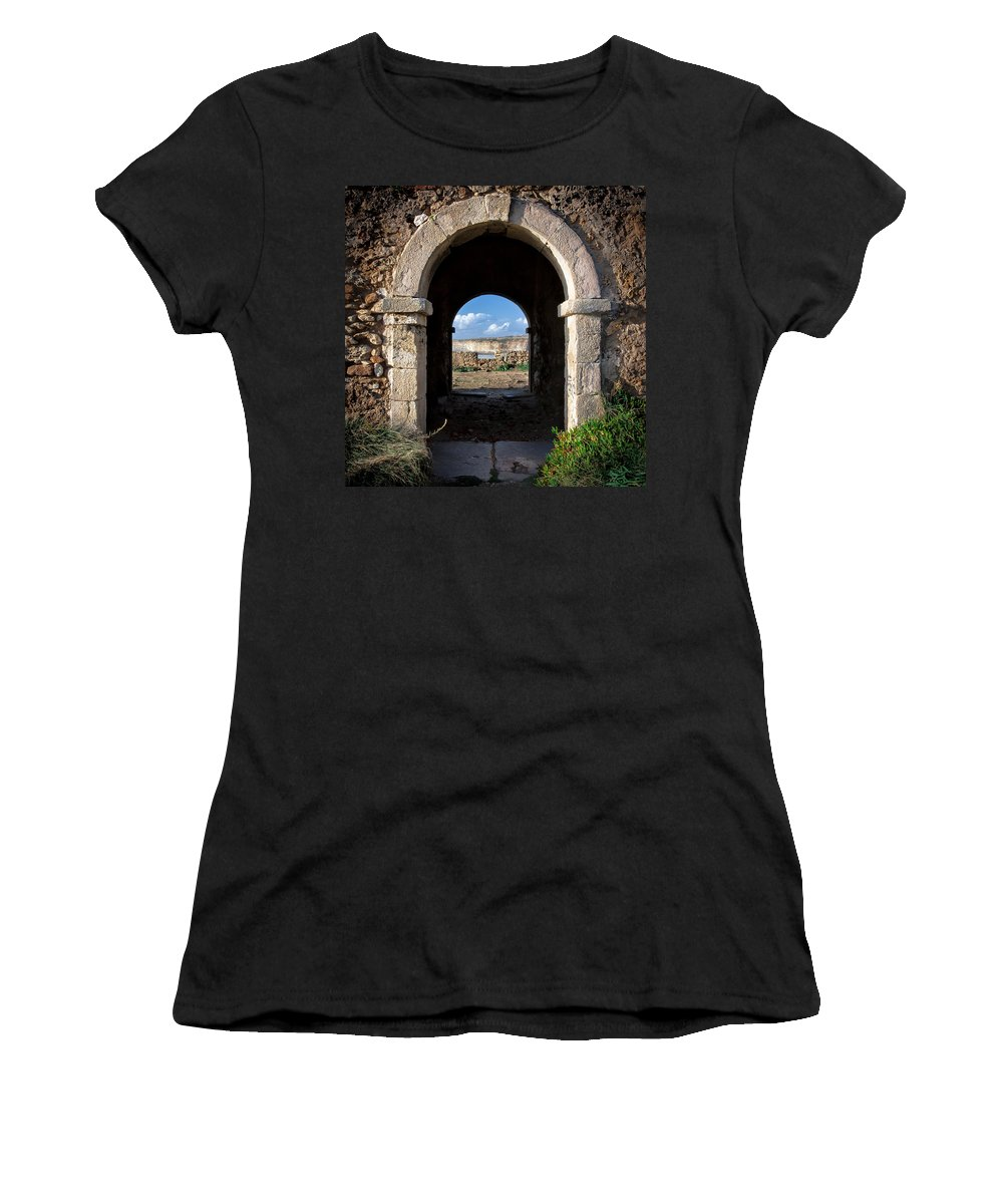 Forte Women's T-Shirt featuring the photograph Milreu by Edgar Laureano