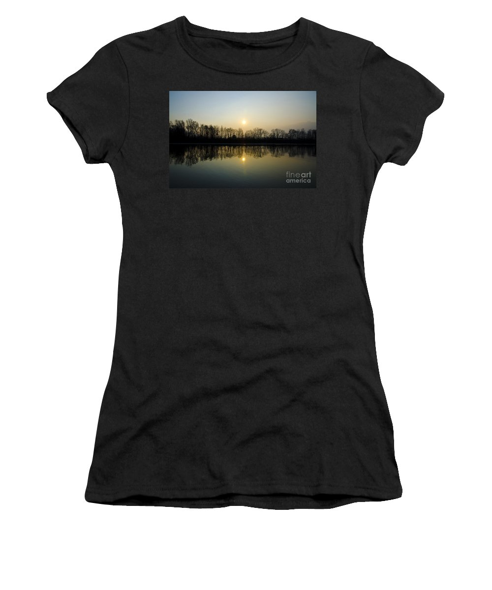 Sky Women's T-Shirt (Athletic Fit) featuring the photograph Mirror Image by Mats Silvan