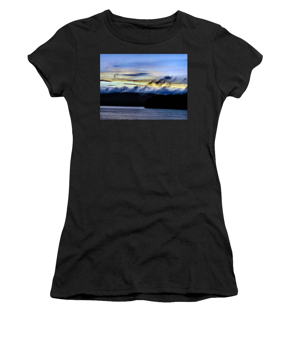 Bold Women's T-Shirt (Athletic Fit) featuring the photograph Mist After The Storm by Art Dingo
