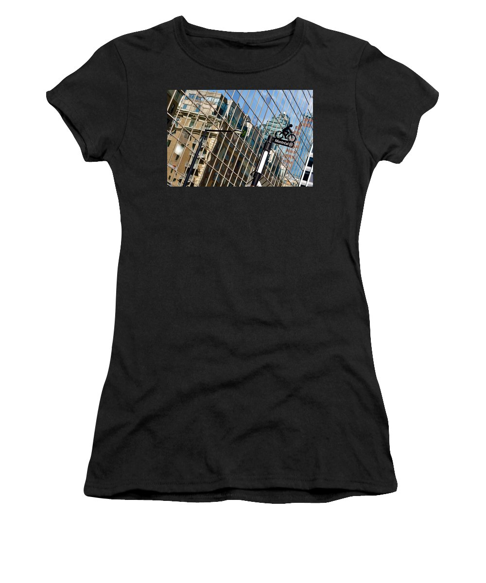 Reflections Women's T-Shirt (Athletic Fit) featuring the photograph Montreal Je T'aime by Valerie Rosen