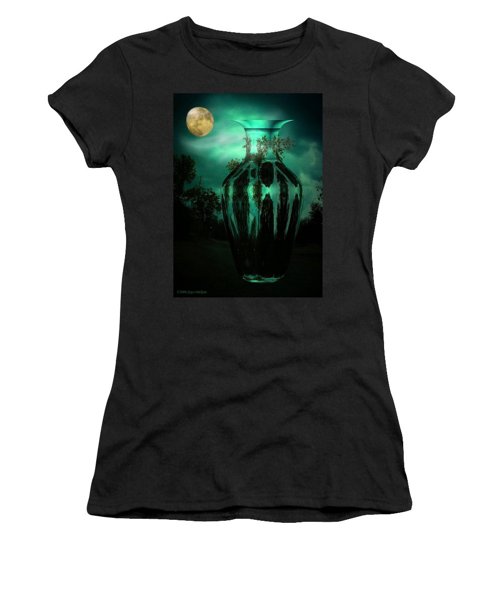 Moon Women's T-Shirt (Athletic Fit) featuring the photograph Moonglow by Joyce Dickens