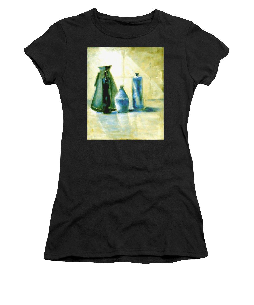 Australian Women's T-Shirt featuring the painting Morning After 1 by Giro Tavitian