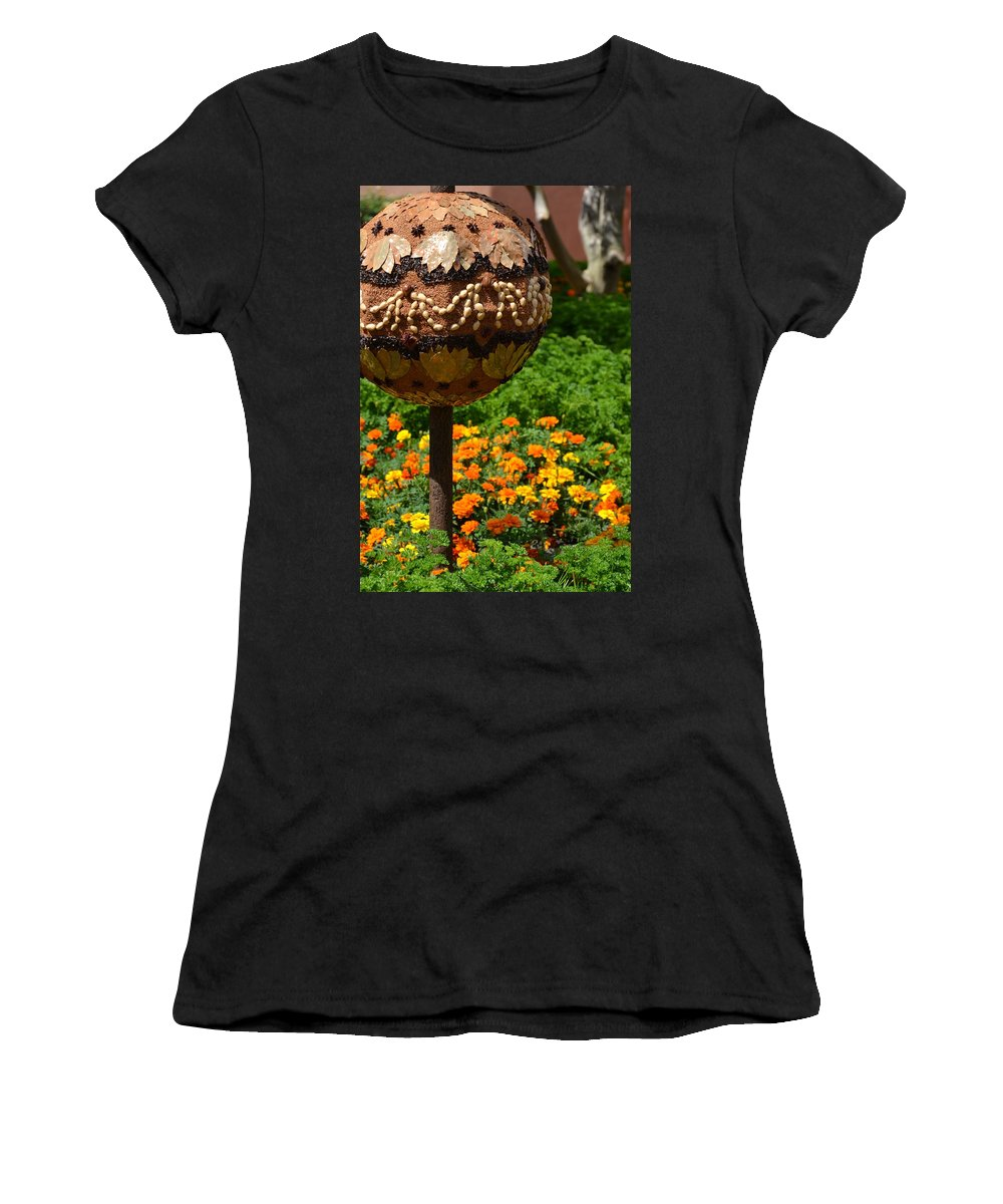 Photo Women's T-Shirt (Athletic Fit) featuring the photograph Moroccan Garden IIi by Bonnie Myszka