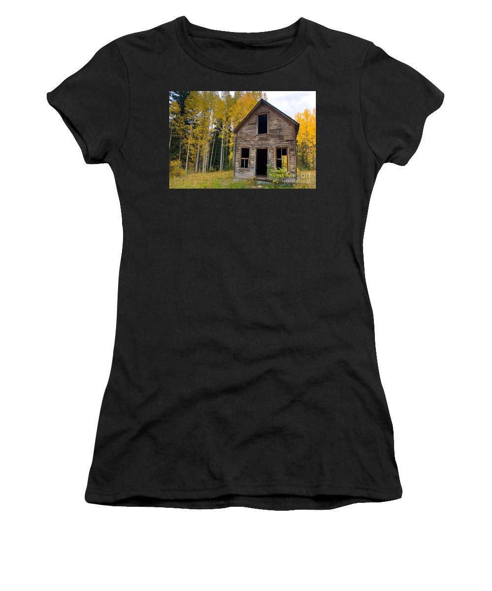 Colorado Women's T-Shirt (Athletic Fit) featuring the photograph Mountain Home by Steve Stuller