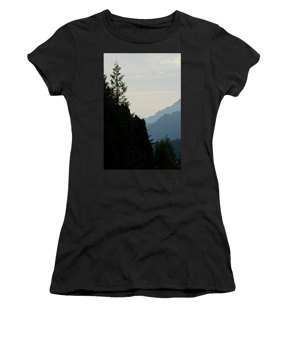 Mountain Women's T-Shirt featuring the photograph Mountain Vista by Tikvah's Hope