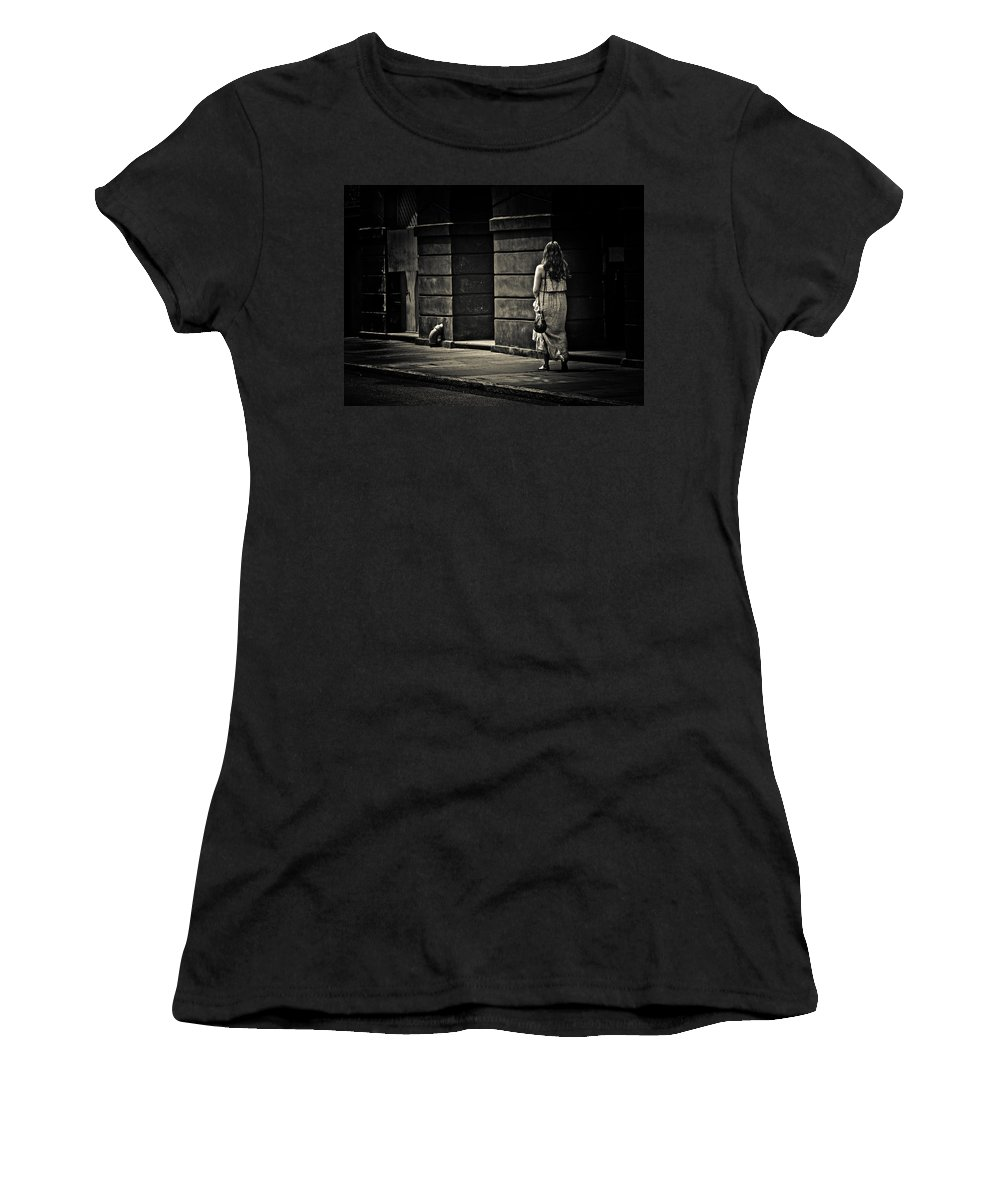 Walk Women's T-Shirt featuring the photograph Moving On... by Jessica Brawley