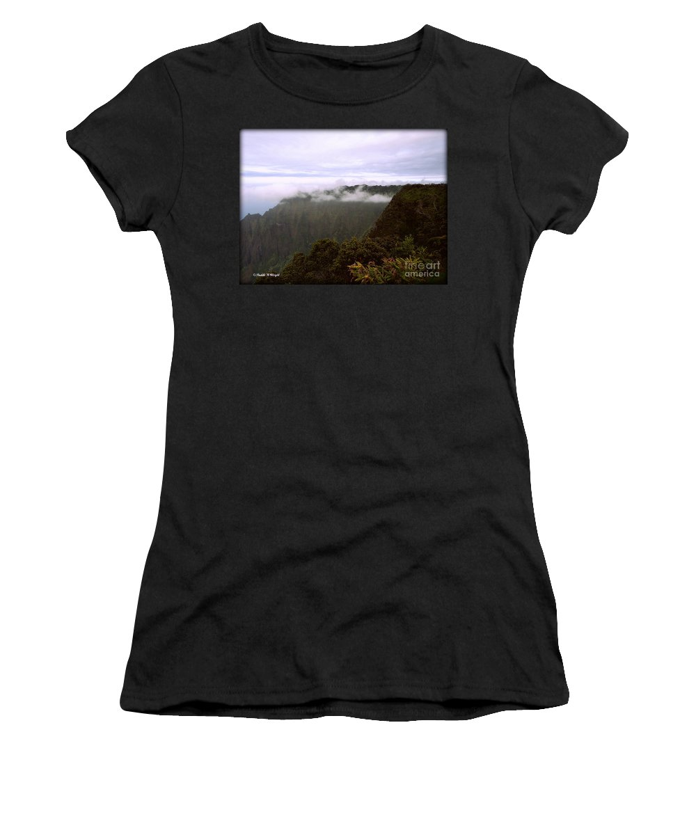 Mt Waialeale Women's T-Shirt (Athletic Fit) featuring the photograph Mt Waialeale by Paulette B Wright