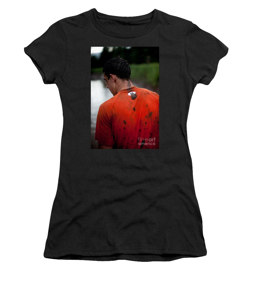 Workout Women's T-Shirt (Athletic Fit) featuring the photograph Muddy Workout by Scott Sawyer