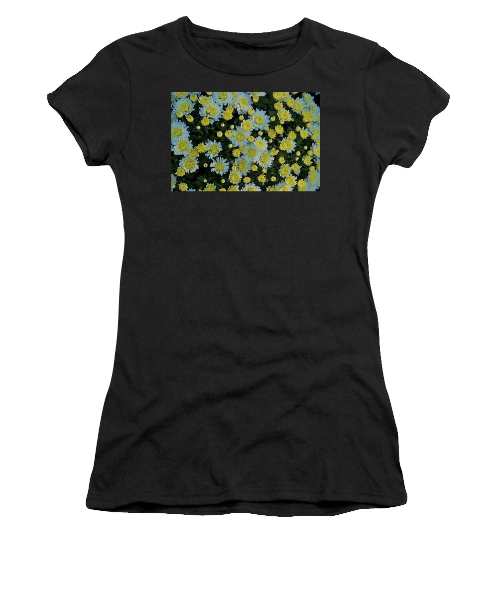 Flower Women's T-Shirt (Athletic Fit) featuring the photograph Mums by Joseph Yarbrough