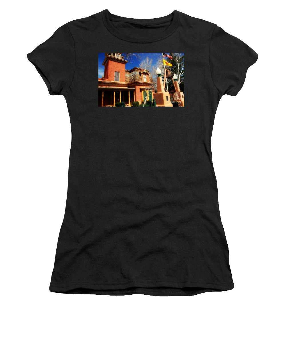 Museum Women's T-Shirt featuring the photograph Museum In Silver City Nm by Susanne Van Hulst