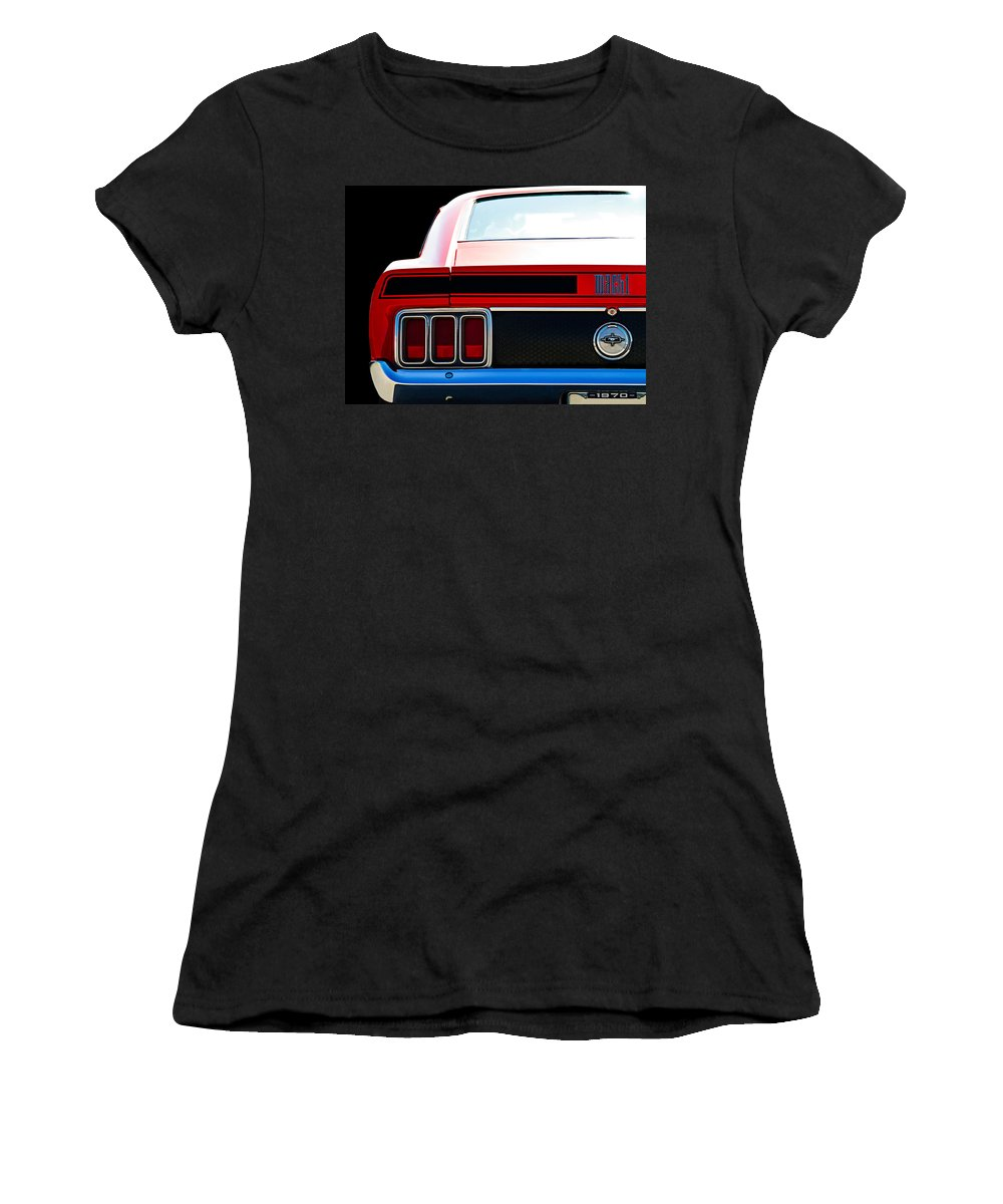 Classic Women's T-Shirt (Athletic Fit) featuring the digital art Mustang Mach 1 by Douglas Pittman