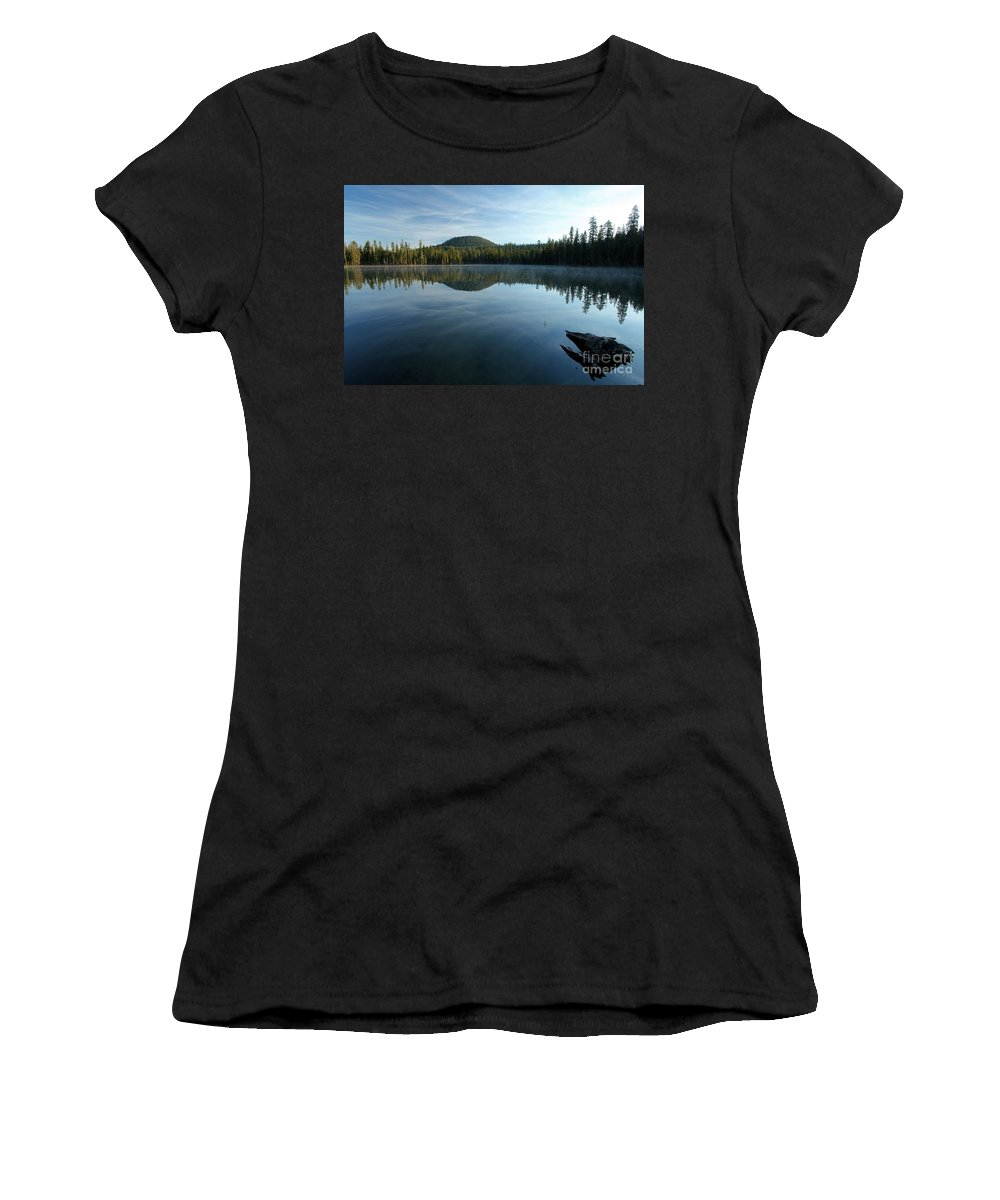 Summit Lake Women's T-Shirt (Athletic Fit) featuring the photograph Natural Arrow by Adam Jewell