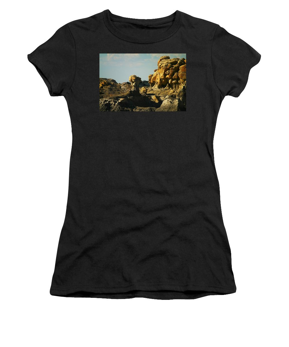 Rocks Women's T-Shirt (Athletic Fit) featuring the photograph New Mexico Red Rock by Jeff Swan