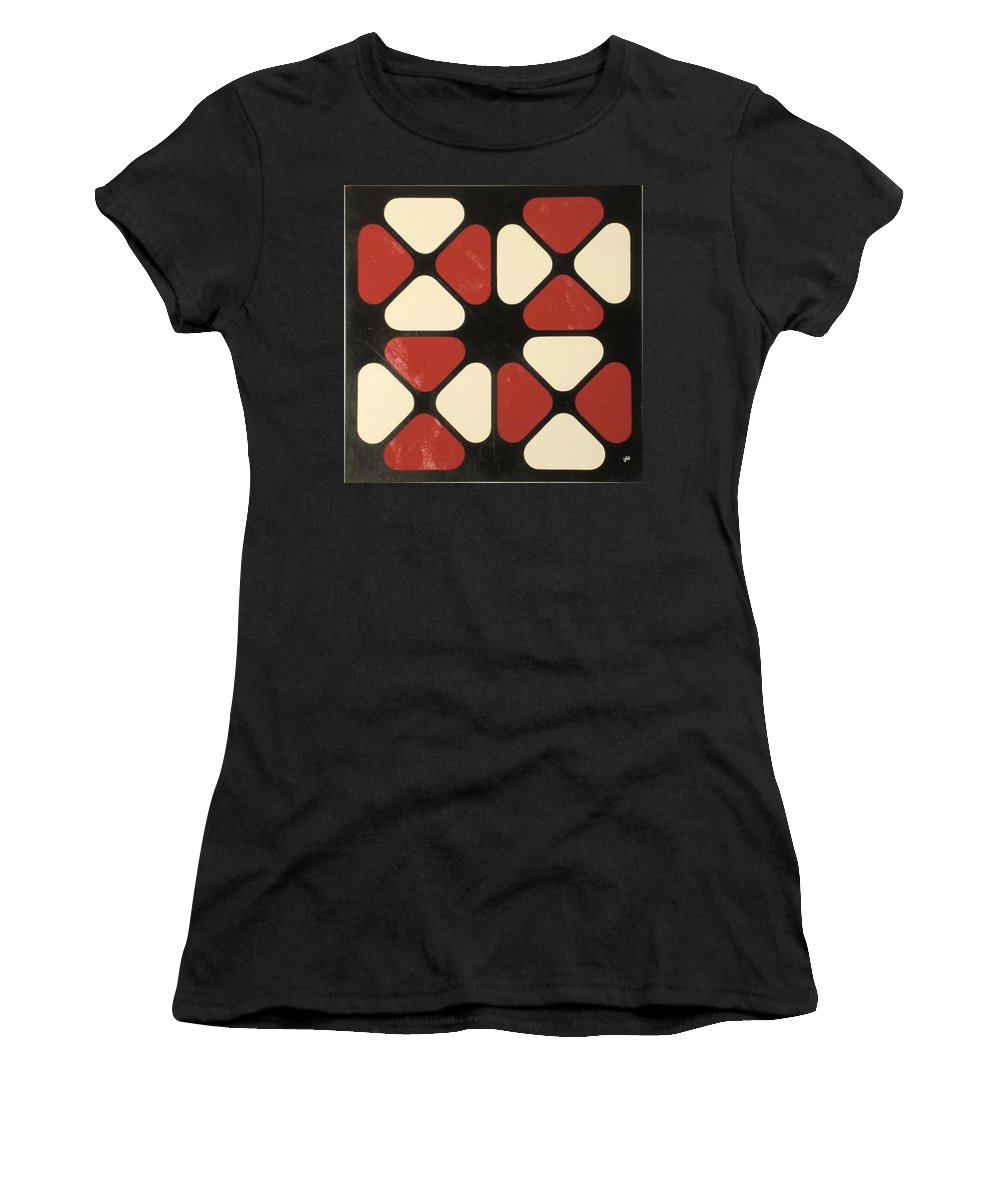 Abstract Women's T-Shirt (Athletic Fit) featuring the painting Notice Redux by James Hamilton