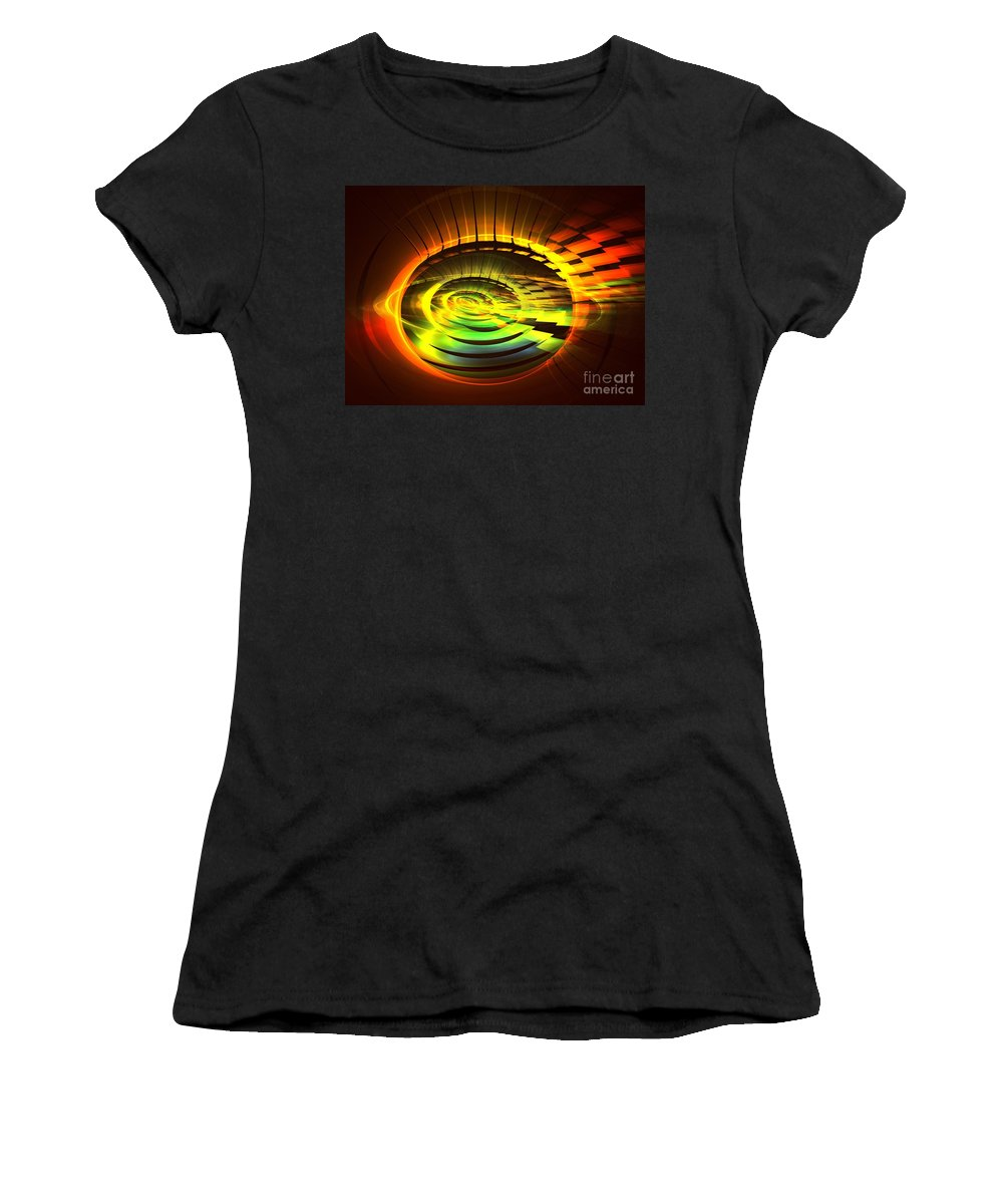 Apophysis Women's T-Shirt (Athletic Fit) featuring the digital art Nova by Kim Sy Ok