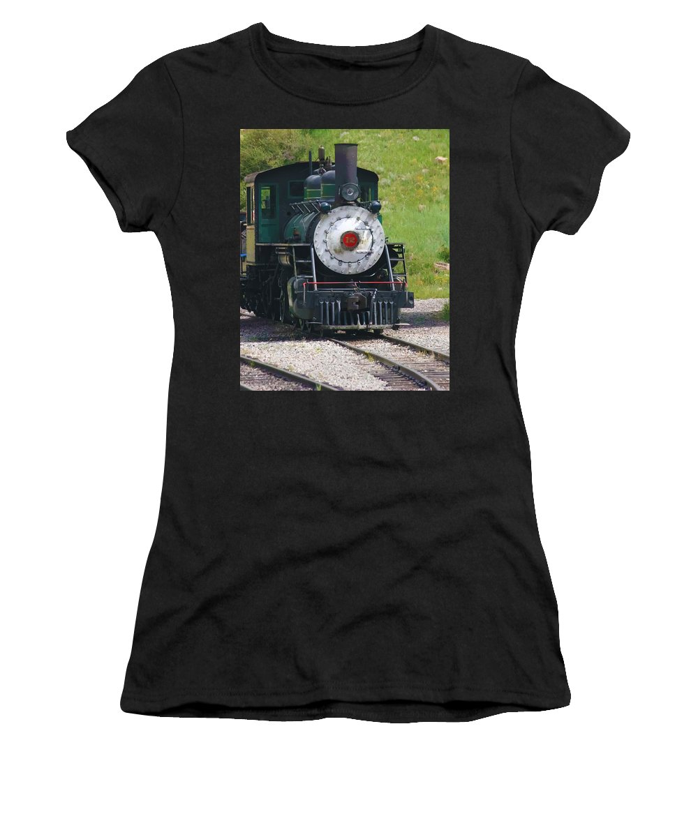 Train Women's T-Shirt (Athletic Fit) featuring the photograph Old Number 12 by Terry Fiala