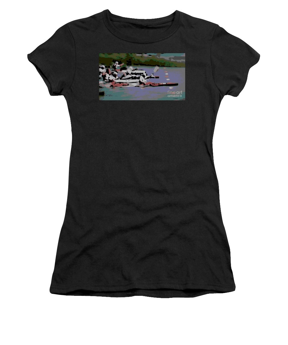 Lightweight Women's T-Shirt (Athletic Fit) featuring the photograph Olympic Lightweight Double Sculls by George Pedro