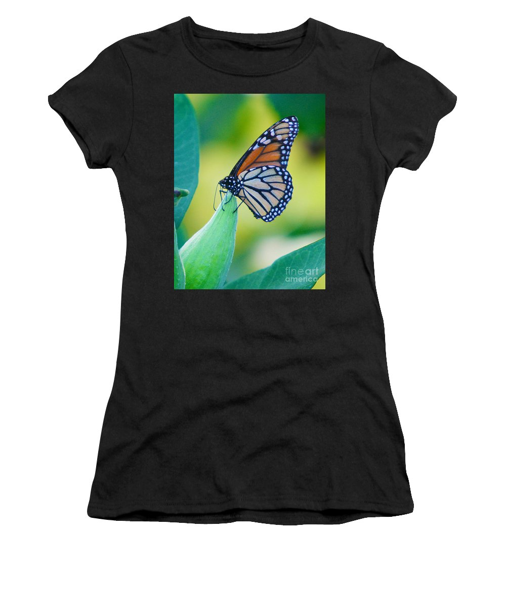 Butterfly Women's T-Shirt (Athletic Fit) featuring the photograph Once A Year by Robert Pearson