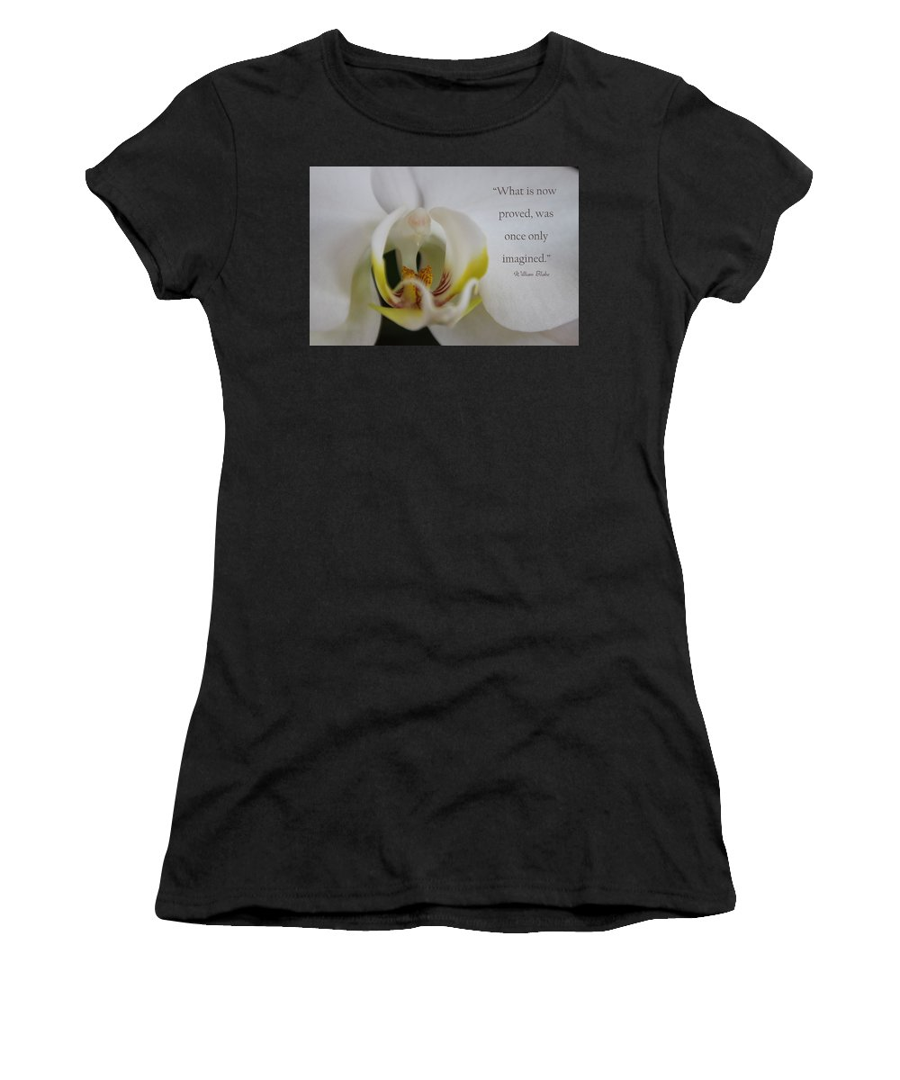 Quote Women's T-Shirt (Athletic Fit) featuring the photograph Once Imagined by Dana Kern