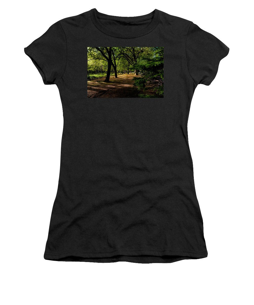 Tree Women's T-Shirt (Athletic Fit) featuring the photograph One Day In The City Park by Edgar Laureano