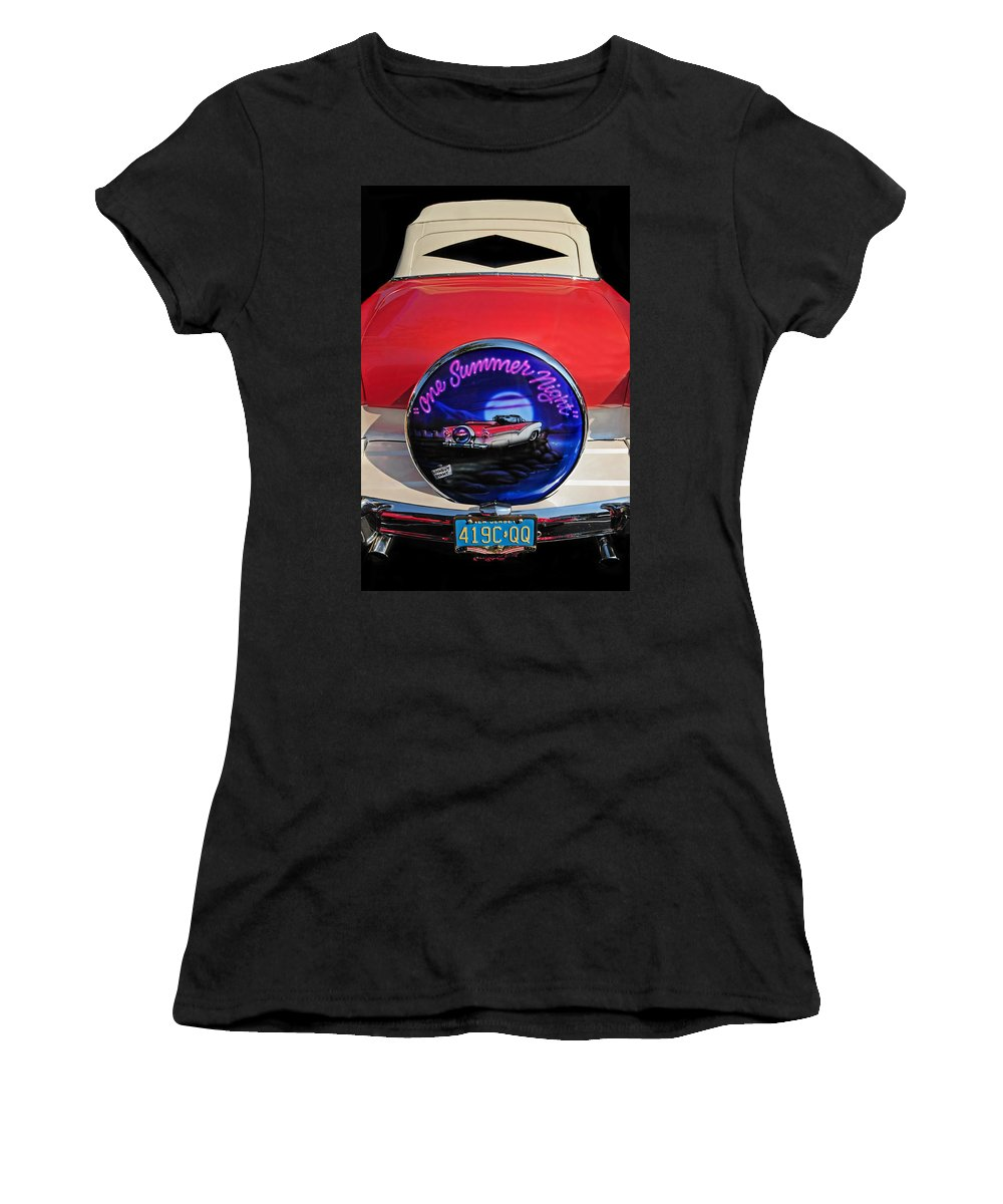 Ford Women's T-Shirt (Athletic Fit) featuring the photograph One Summer Night by Dave Mills