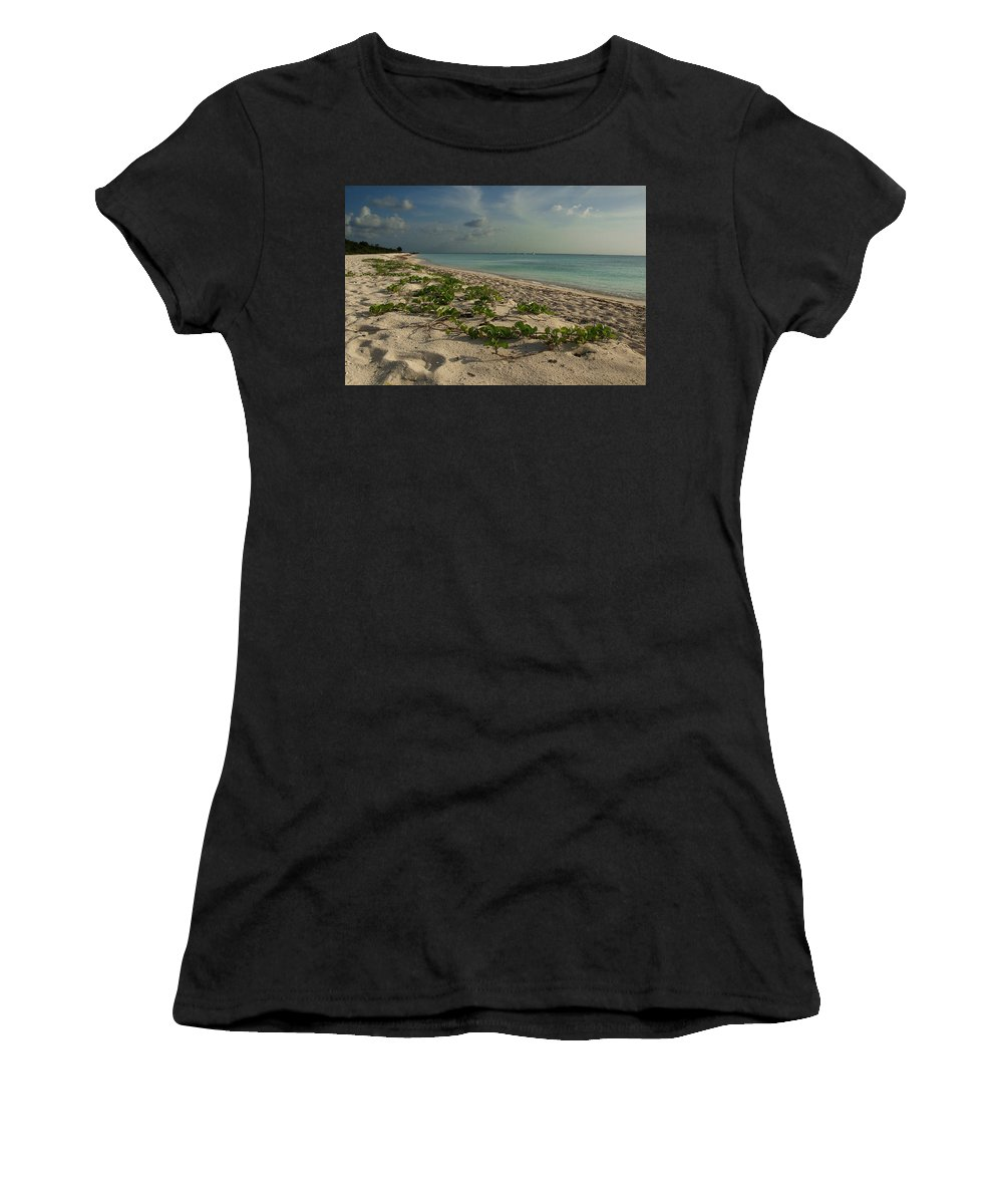Beach Women's T-Shirt (Athletic Fit) featuring the photograph Paradise by David Resnikoff