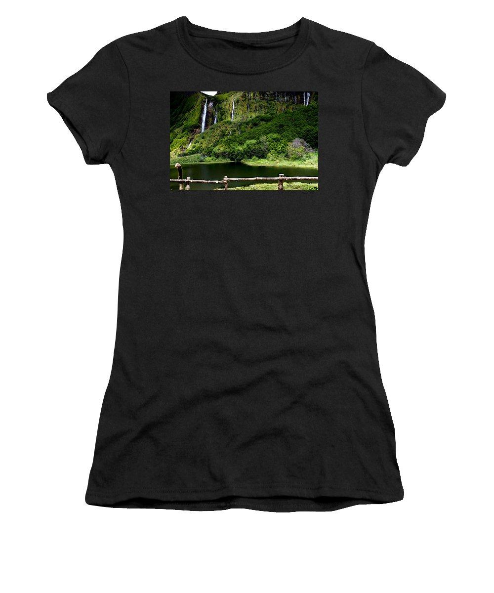 Waterfalls Women's T-Shirt featuring the photograph Paradise II by Edgar Laureano