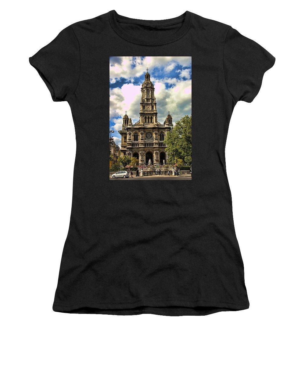 Paris Women's T-Shirt (Athletic Fit) featuring the photograph Paris Church by Jon Berghoff