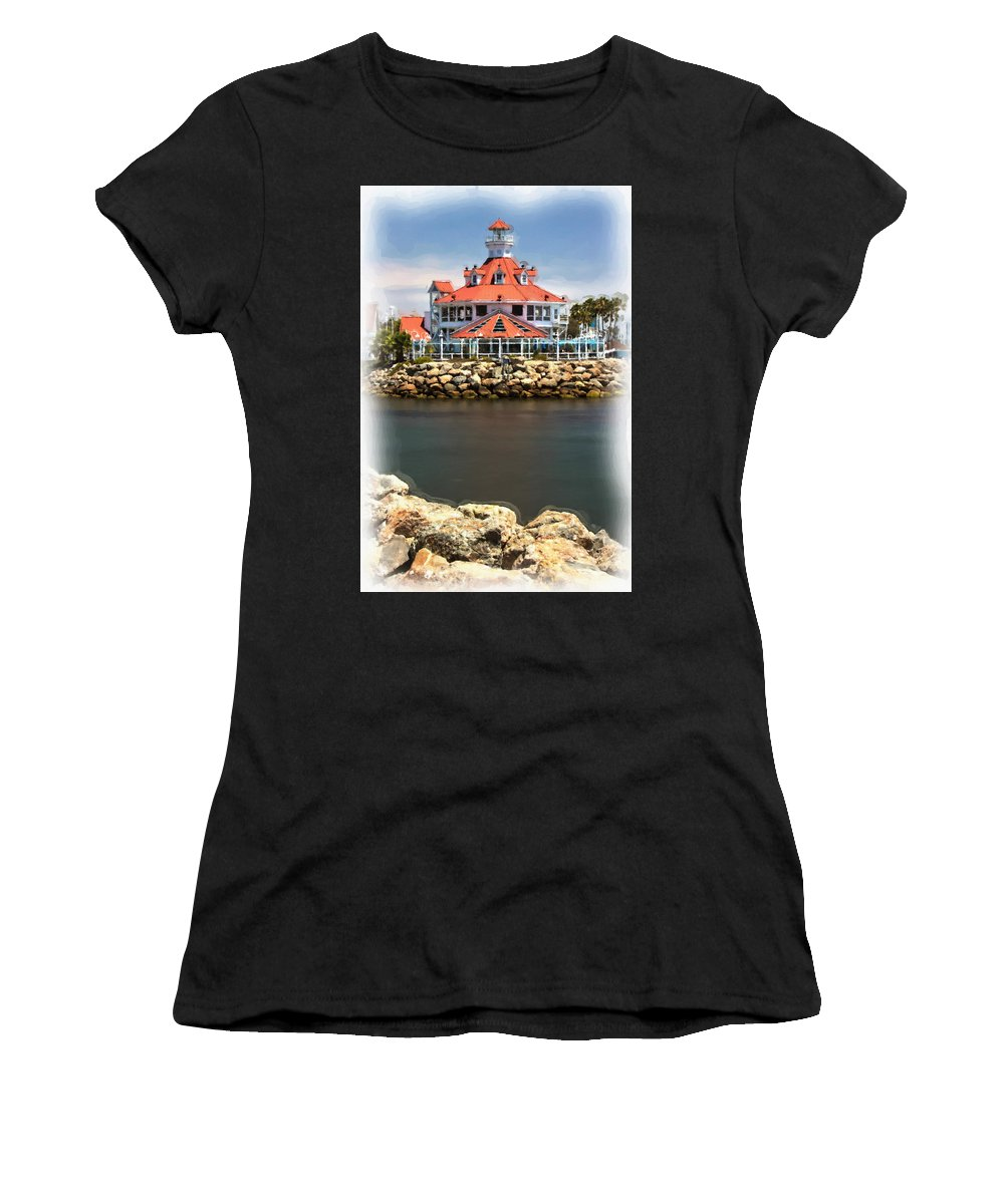Lighthouse Women's T-Shirt (Athletic Fit) featuring the photograph Parker's Lighthouse Charm by Heidi Smith