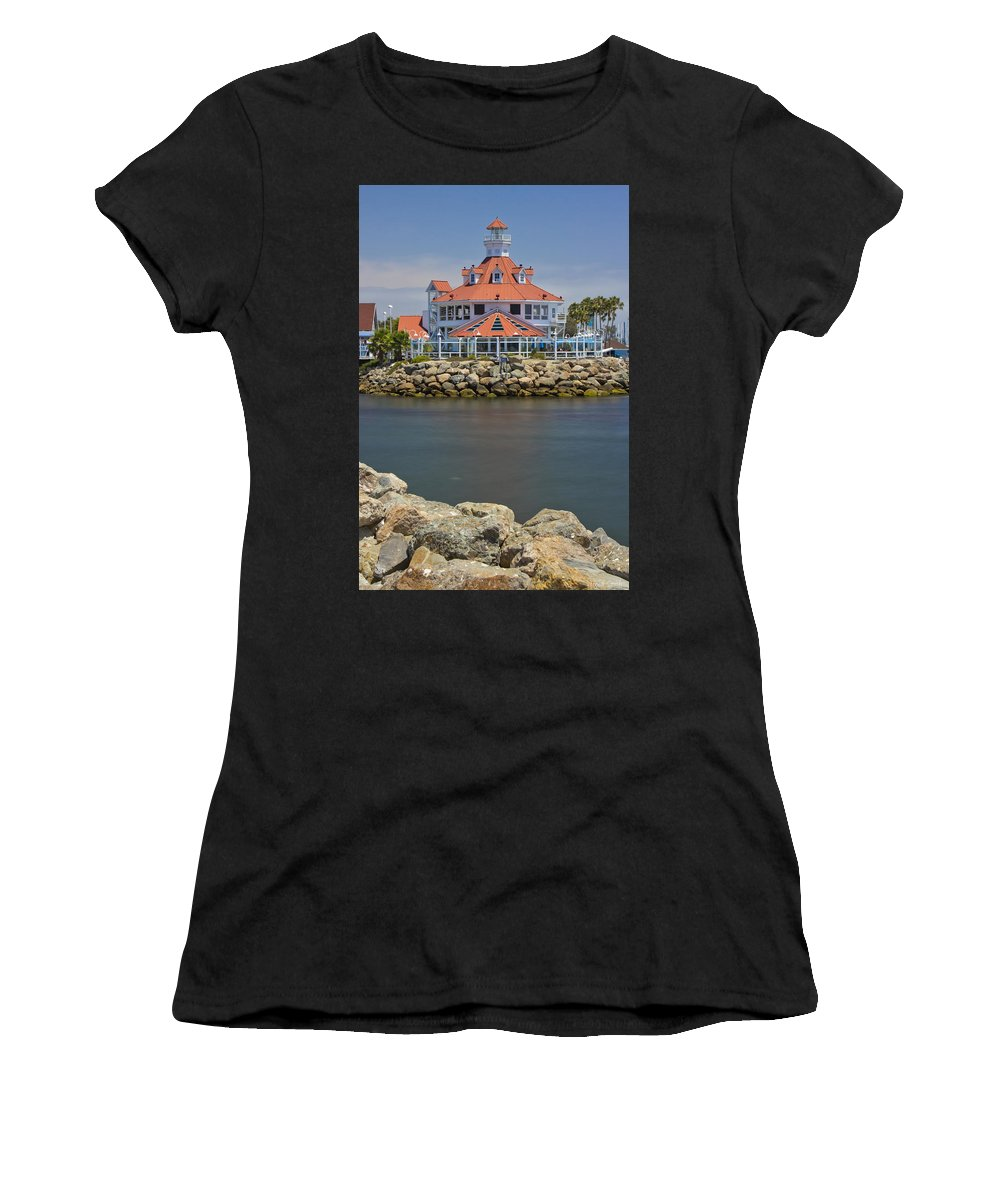 Long Beach Women's T-Shirt (Athletic Fit) featuring the photograph Parker's Lighthouse by Heidi Smith